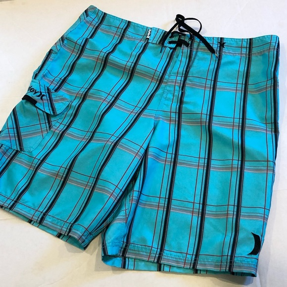 Hurley Other - HURLEY board shorts blue plaid